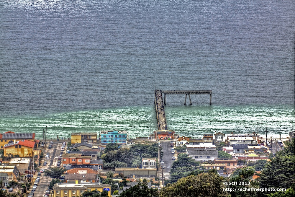 Pacific Fishing Pier from Grace McCarthy Vista Point
